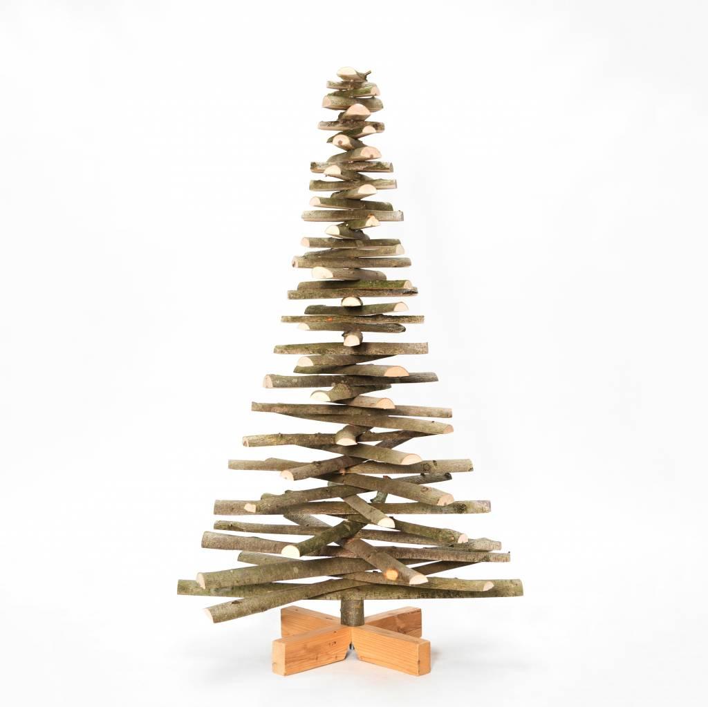 Houten Kerstboom Lijsterbes Met Bast Onthout