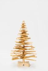 Houten kerstboom lijsterbes mini