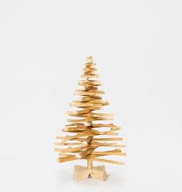 Houten kerstboom Eruopese vogelkers mini