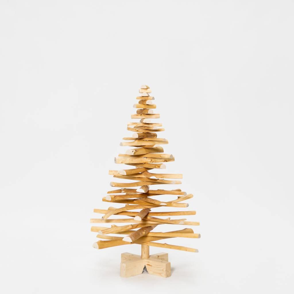 Houten kerstboom Europese vogelkers mini