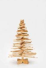 Houten kerstboom grenenhout mini
