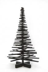 Houten kerstboom zwart