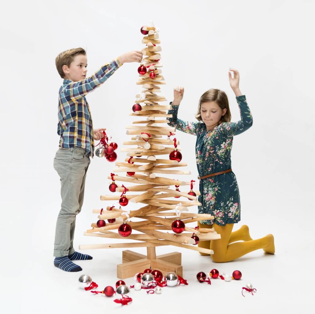 Houten kerstboom Lijsterbes