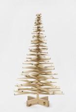 Houten kerstboom vlierbes wit