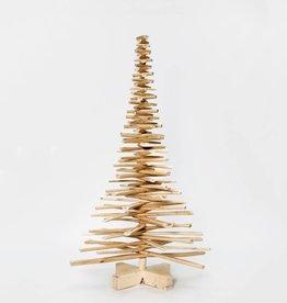 Houten kerstboom op de kop