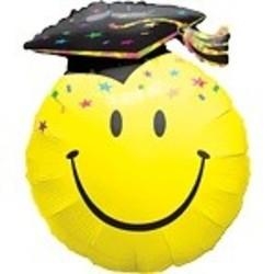 Hoera geslaagd versiering Mega folie ballon geslaagd, ca 90 cm