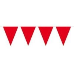 vlaggenlijn, effen rood. 10 meter.