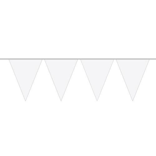 vlaggenlijn, effen wit. 10 meter.
