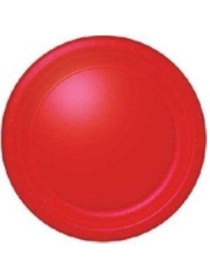 Groot bord, rood, 23 .cm, . 16 stuks