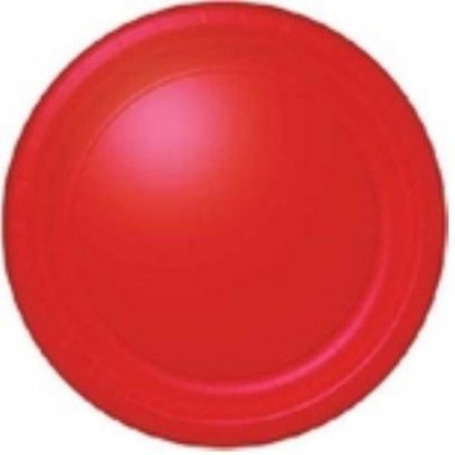 Gebaksbordje rood, 18 cm / 20 stuks