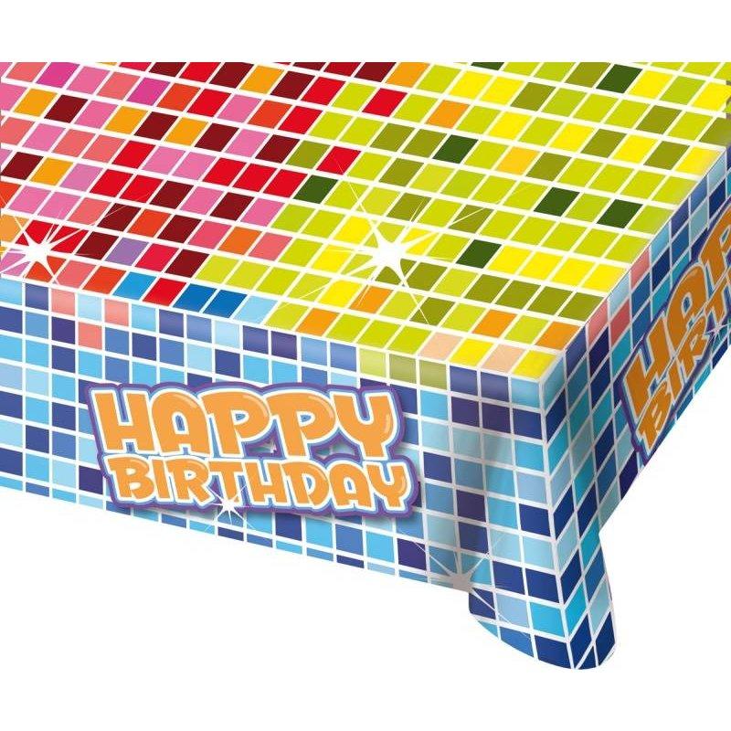 Blocks tafelkleed happy birthday