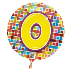 Folie ballon 0 jaar blocks