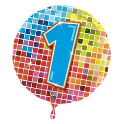 Folie ballon 1 jaar blocks