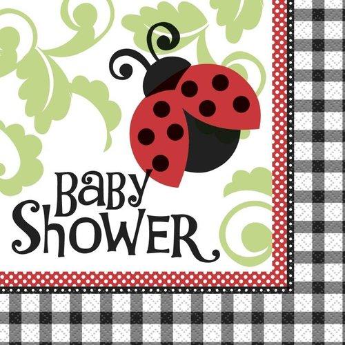 Servet babyshower versiering, Lively Ladybug