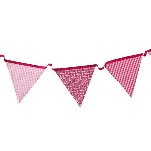 Stoffen vlaggenlijn roze