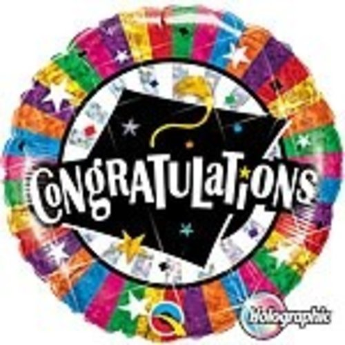 hoera geslaagd versiering Folie ballon geslaagd (Congrats Grad)