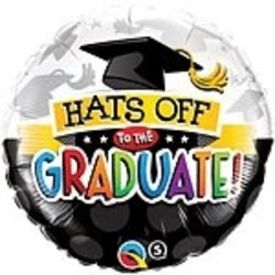 Hoera geslaagd versiering Folie ballon geslaagd (Hats Off Graduate)