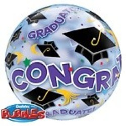 Hoera geslaagd versiering Bubble ballon geslaagd (Congrats Grad)