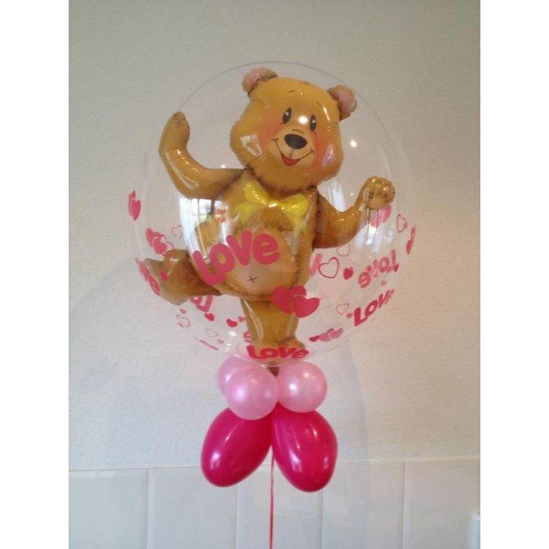 Bubble decoratieballon beer