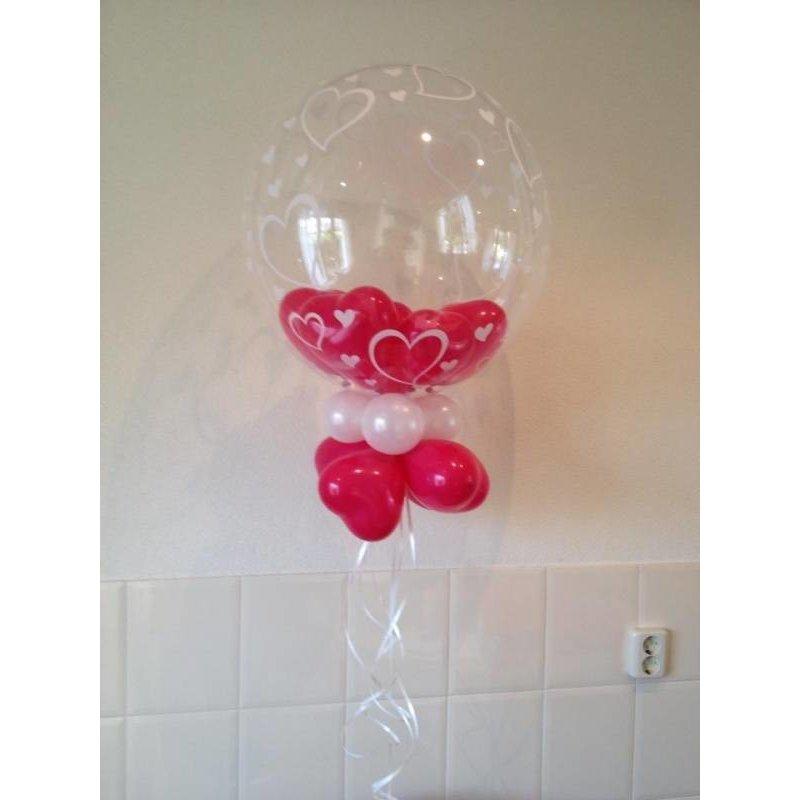 Decoratie ballon gevuld met hartjes ballonnen makkelijkfeestje - Home decoratie met tomettes ...