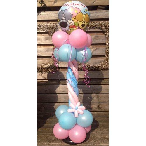 Woezel en Pip balloon pilaar  draai (per 1 pilaar)