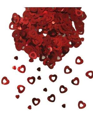 Tafeldecoratie / sier-confetti rode hartjes