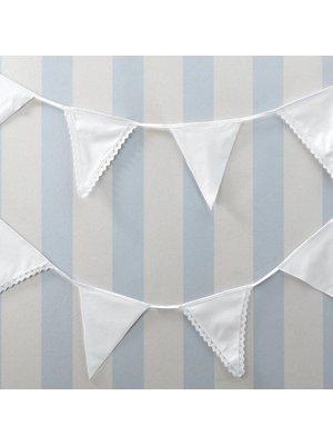 Vintage lace stoffen witte vlaggenlijn
