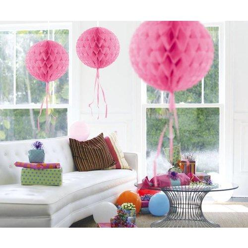Honingraat bal, baby roze