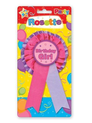 Badge voor de jarige job (roze)