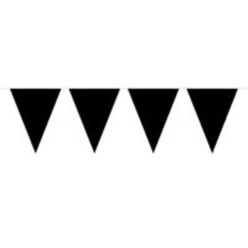 Vlaggenlijn, effen zwart. 10 meter