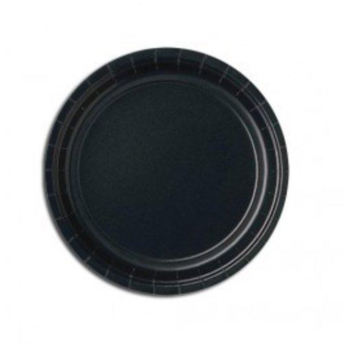 Zwart gebaksbord, 18 cm 20 stuks