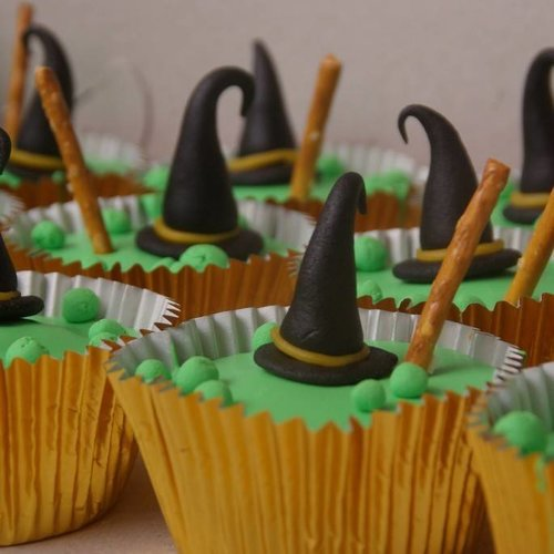 Voorbeeld heksen cupcake