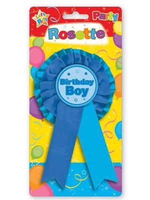 Badge voor de jarige job (blauw)