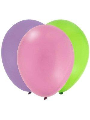 Ballonnen (licht roze, paars & groen) 30 ballonnen