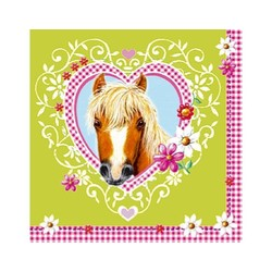 Paardenfeestje, servetten (20 servetten) (D)