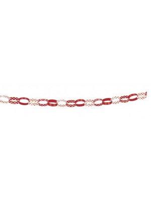 Rode stip kettingslinger 150 cm