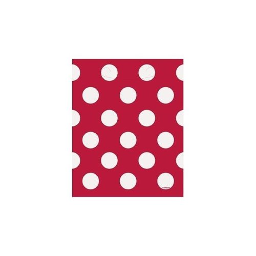 Rode stip uitdeel zakjes 8 stuks
