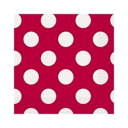 Rode stip Servet 33 cm 16 stuks