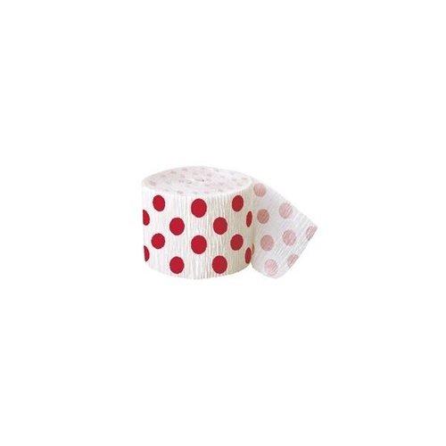 Rode stip papiersinger 360 cm