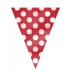 Rode stip Vlaggenlijn 360 cm