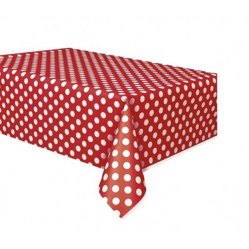 Rode stip Tafelkleed 132x274