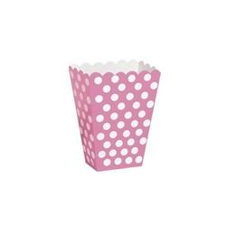 Roze stip uitdeeldoosjes 6 stuks