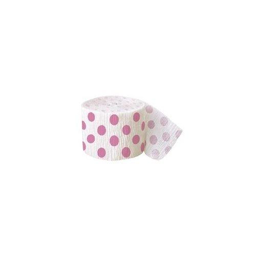 Roze stip papierslinger 360 cm