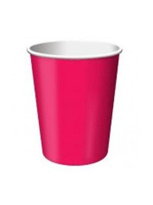 Beker, knal roze 14 stuks