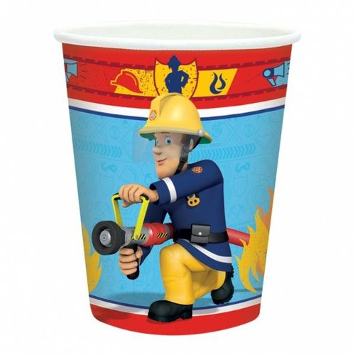 Bekers 8x, brandweerman sam feest