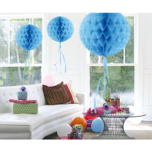 Licht blauwe honingraat bal