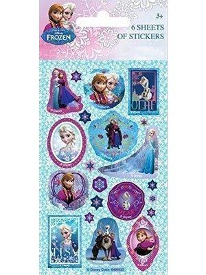 Uitdeelcadeautjes Frozen: 6 sticker vellen
