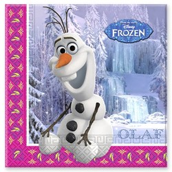 Frozen Disney servetten Olaf (winter)