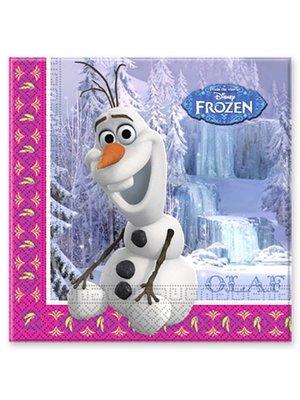 Frozen Disney servetten Olaf (winter)