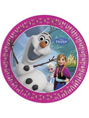Frozen Disney Olaf gebaksbordjes (winter)
